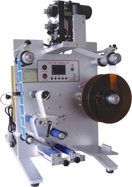 automatic round bottle label machine double label FH-130M (220V/50HZ)