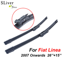 SLIVERYSEA Wipers For Fiat Linea 2007 Onwards 26+15 Rubber Windscreen Blades Promotions Car Accessories CPB107