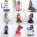 Japonés anime love live tojo/umi/eli/hanayo/nico/rin dulces uniforme de sirvienta princesa lolita dress cosplay one size