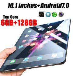 Новый оригинальный 10,1 дюймов Dual SIM 3g телефон планшет wifi Andriod 7,1 десять ядер 6G ram + 16/64/128G rom планшет двойной gps телефон Pad