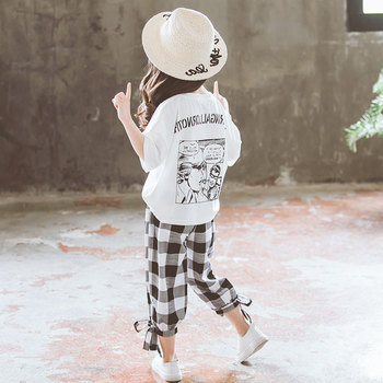 2019 Summer Girls Clothing Sets Girls Short Sleeve T-shirt+Casual Pants Teen Girl Clothes 8 10 12 14 Years back to school outfit 2