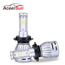 2PCS Mini H4 Led H7 Headlight Car Bulb 3000k 4300K 6500K 8000K 72W 8000LM HB3 9005 LED H4 H1 H8 H11 9006 HB4 Automotive 12v 24V(China)