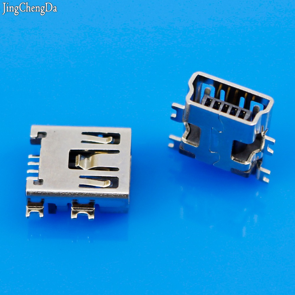 Jing Cheng Da  10Pcs/lot Mini USB Type B SMD Female Socket 5-Pin 5 Pin Jack Connector Port New Hot Sale cltgxdd us 163 new double usb 3 0 connector usb socket two layer usb3 0 female jack af type page 11