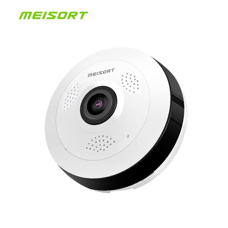 Meisort Wi-Fi мини IP Камера 360 градусов охранных Беспроводной панорамный Wi-Fi ip-видеонаблюдения Камера 1.3MP 960PH видео безопасности Камера