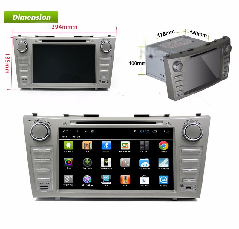 Quad Core 1024*600 Android 6.0 for TOYOTA COROLLA 2001 - 2006 2007 2008 2009 2010 2011 Car DVD Player Navigation GPS Radio