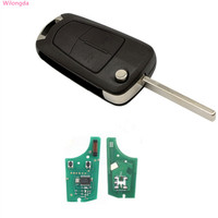 Wilongda Car key 2 button flip remote key with 434mhz PCF7941 chip For Opel VAUXHALL and ASTRA H auto key