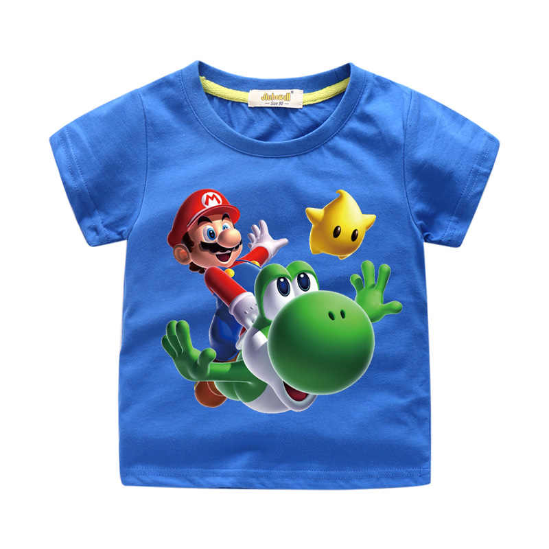bff8ab1a5 Detail Feedback Questions about Baby Cartoon Mario Print Tee Tops Clothes  For Children Clothing Boy Summer T Shirt Girls T shirt Kids White Tshirt  Costume ...