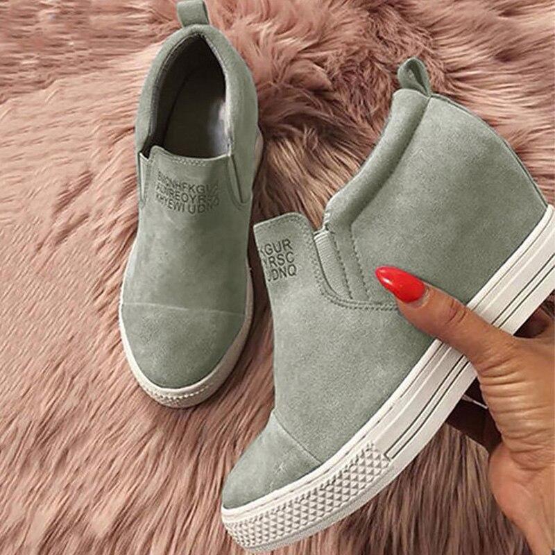 Mode Black Pour Slip green Paresseux Non Slip Taille Augmentation Filles 42 43 41 Femmes La Printemps Designer Plus on Chaussures pink Casual blue Sneakers 0FHqwgxR