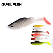 цена на GUGUFISH 3D Fish Lifelike Lures 10Pcs/pack 110mm Hot Model Fishing Soft Lures Tackle lure hot sale Artificial Bait Free Shipping