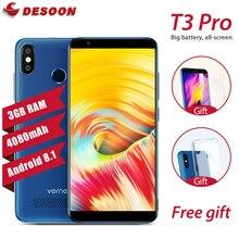 Original Vernee T3 Pro Smartphone 3GB RAM 16GB ROM Android 8.1 5.5′ full screen Dual Cams Cellphone 4080mAh 4G Mobile Phone