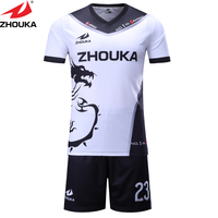 Dragon Football Jersey Customizing Sublimation Mix Color Soccer Kits Making