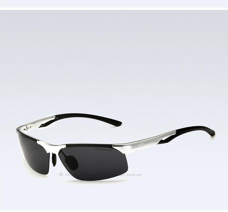 Поляризованные солнцезащитные очки в оправе из алюминиево-магниевого сплава, мужские солнечные очки, уличные аксессуары, спортивные очки, аксессуары, мужские oculos male 6591 - Цвет линз: Серебристый