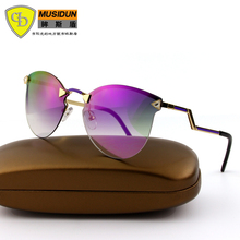New Модный Бренд Дизайнер Солнцезащитные Очки Женщины Vintage Солнцезащитные очки Óculos де золь feminino UV400 1077