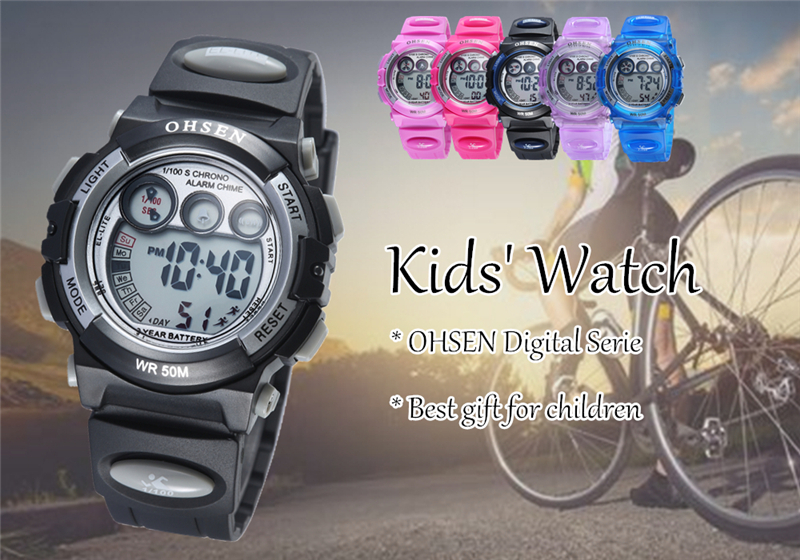 Fashion OHSEN Brand Sports Watches Children LED Digital Watch Kids Multifunctional Wristwatches Alarm Stopwatch Student Clock (12)