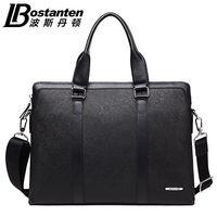 Bostanten новый для мужчин из натуральной яловой кожи модные сумки Посланник Сумки На Плечо портфели ноутбука Бизнес Сумка Кошелек