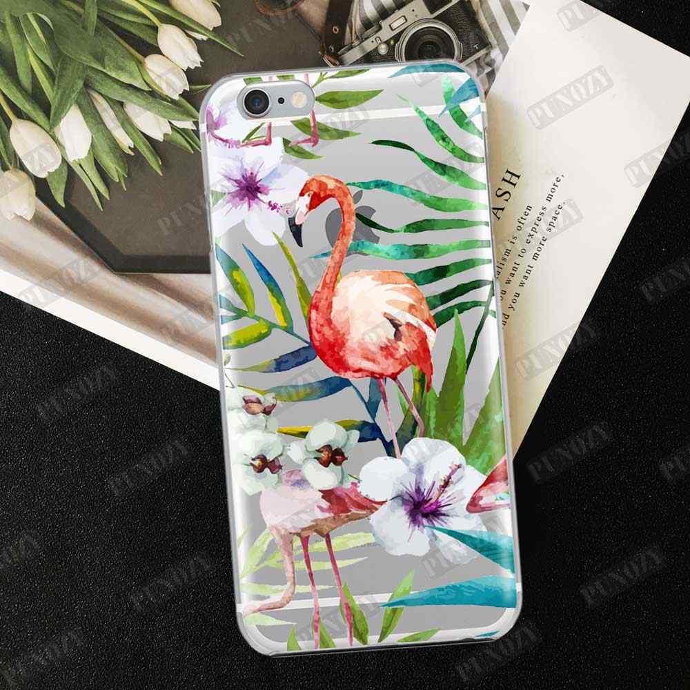 ฤดูร้อน Tropical พืชดอกไม้นกคู่น่ารักสำหรับ iPhone XR XS MAX 7 6 S 8 Plus 4 5 S SE ซิลิโคนนุ่ม TPU Case