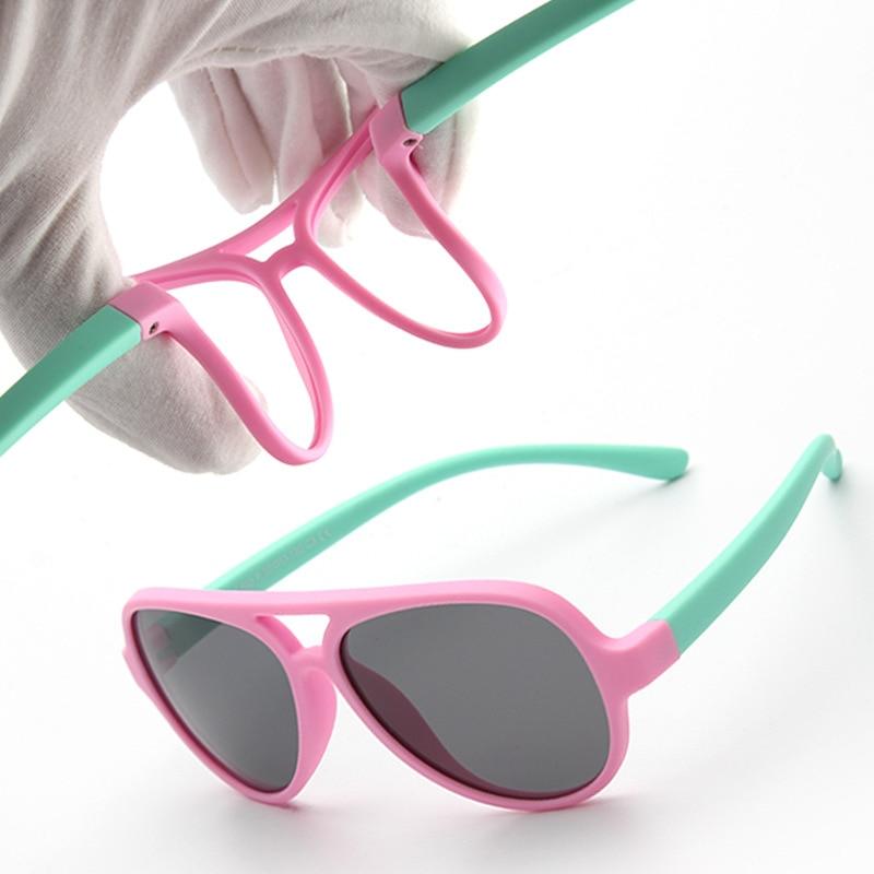 Kids Sunglasses Retro Children Outdoor Fashion Brand Polarized Glasses Pilot Aviation Eyewear UA400