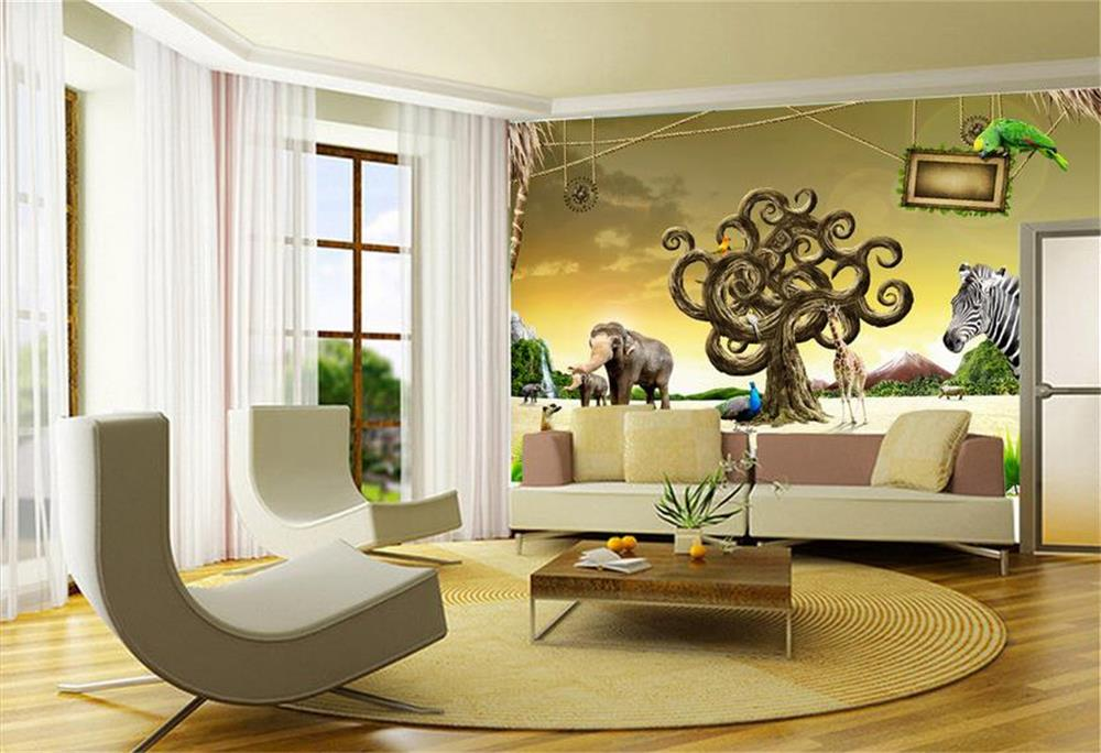 Wallpaper For Walls Prices Part - 32: 3D Wallpaper Custom Mural Photo Wall Paper For Living Room Zebra Rhino Zoo  Animals 3d Mural