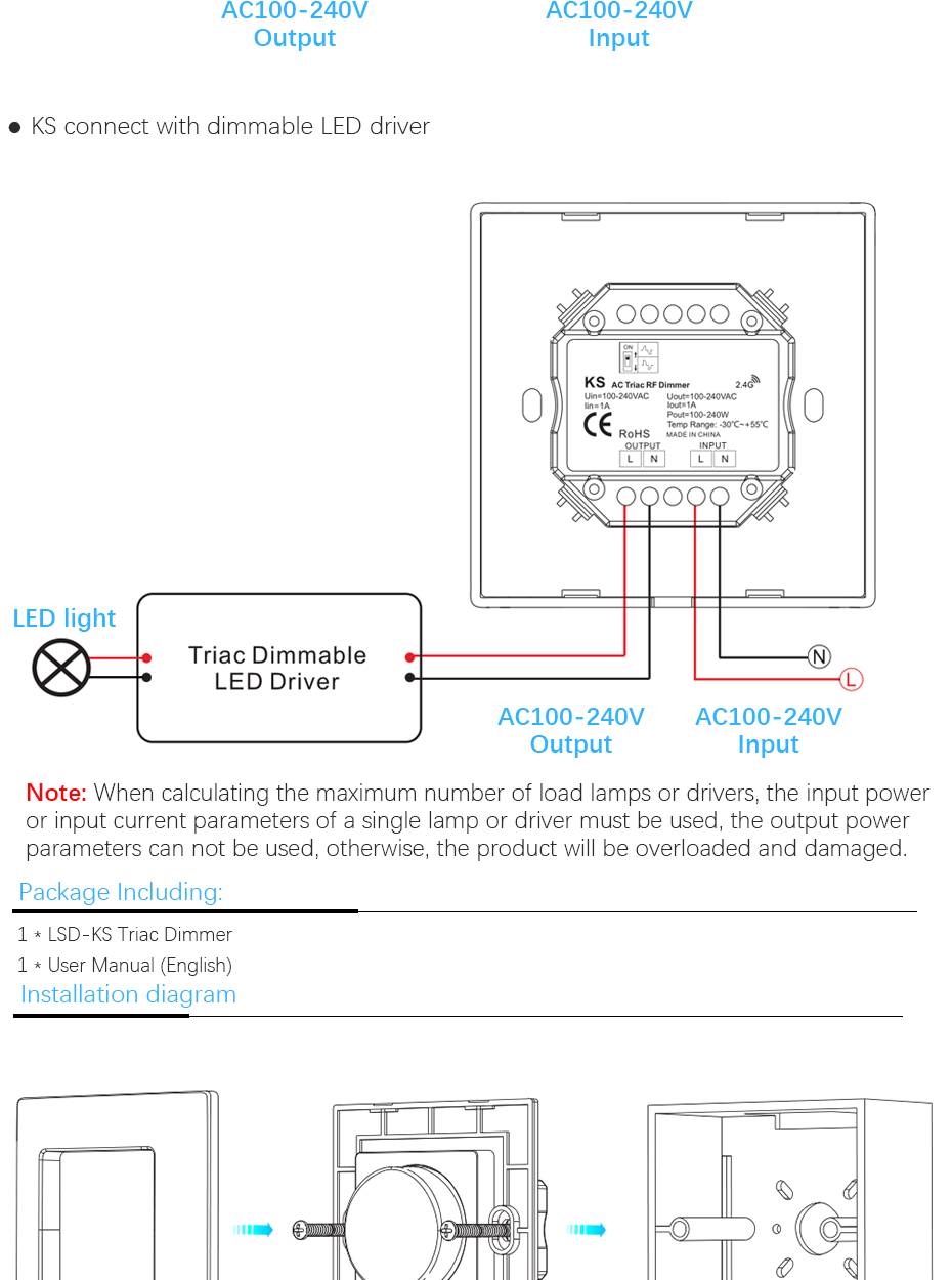 triac dimming wiring diagram electricity site new ks led triac dimmer high voltage 100 240v input [ 930 x 1250 Pixel ]