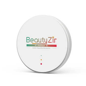 dental multilayer zirconia disk A1-D4 16 colors thickness 10-25mm for cad cam - DISCOUNT ITEM  0% OFF All Category
