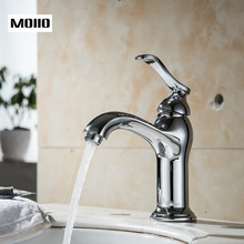 MOIIO 2019 Bright Chrome Basin Faucet Single Handle Brass Bathroom Faucet Elegant Design Bathroom Sink Tap torneiras monocomando