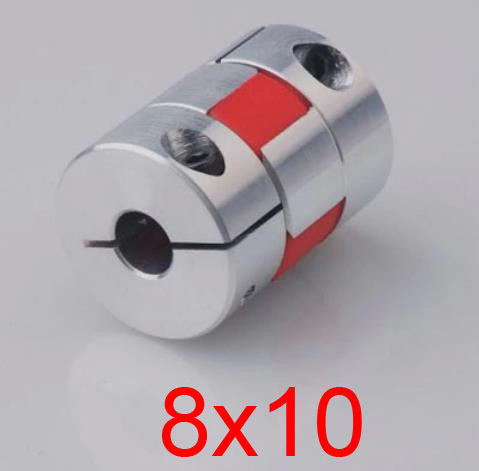 1 flexible 8mmx10mm coupler coupling CNC ballsrew stepper servo motor shaft