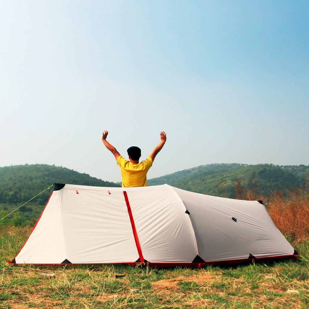 HIMAGET Сверхлегкий 1,6 кг палатка 25D Нейлон Палатка силиконовое покрытие 2 человек Водонепроницаемый двухслойные Алюминий сплав стержень палат...