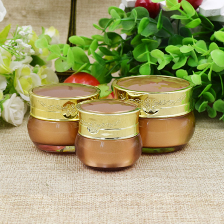 5/10pcs/lot 10g 15g 30g Empty DIY Gold Acrylic Skin Care Eye Face Cream Jar Pot Cosmetic Container Refillable Sub-package Bottle 6 pcs 15g 30g 50g 1oz empty upscale refillable black cosmetics cream glass bottle container pot case jar with black lid