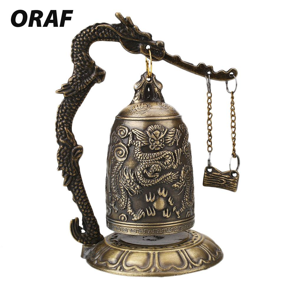 Home Office Storage Kind-Hearted Instrument Copper Dragon Bell-hammer Vintage Silver Old Copper Cheap Tibetan Silver 100% Real Tibetan Silver Brass Online Shop