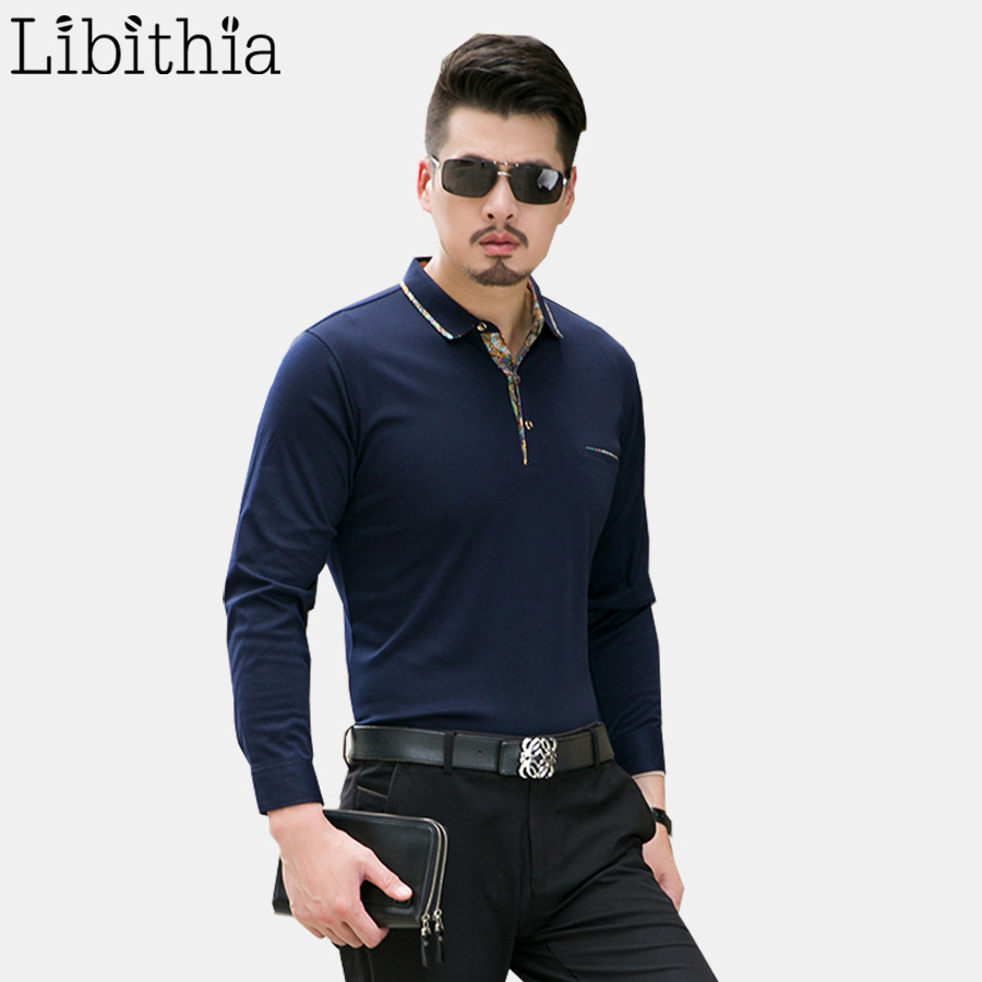 Men Cotton Sweater Big Size 4XL Flowers Pullover Turn-down Collar Homme Long Sleeve Knitted Sweater For Men Autumn Navy Blue K17