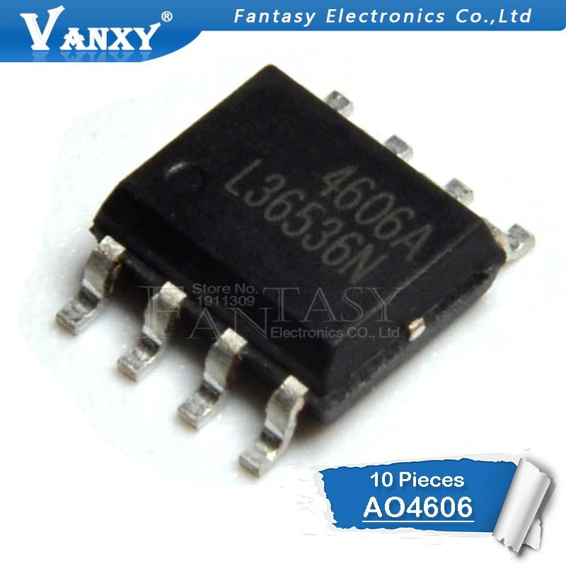 10PCS AO4606 SOP8 AO4606C SOP 4606A SMD 4606