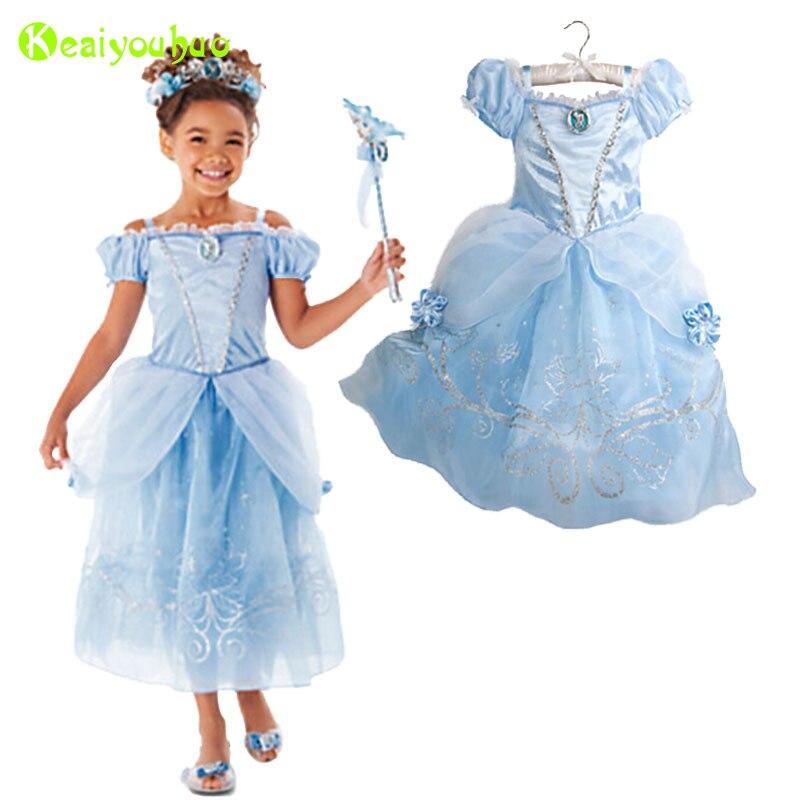 Original Princess Snow White Cinderella Dresses Costumes: KEAIYOUHUO Girls Princess Party Dress For Girls Cinderella