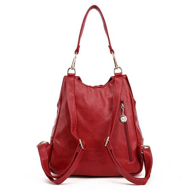 Women leather Big bag real brand women zipper shoulder bag Elegant woman multifunctional handbag large capacity bags