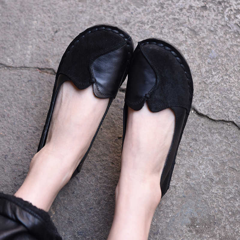 885945733197d4 Artmu Flat Women Shoes Female Soft Sole New Spring and Summer Cowhide Comfortable  Handmade Shallow Mouth