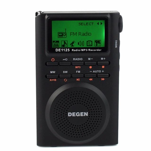 Degen DE1125 Digital Radio Recorder FM Стерео МВТ SW AM MP3 Электронная Книга 4 ГБ Радио FM D2976A