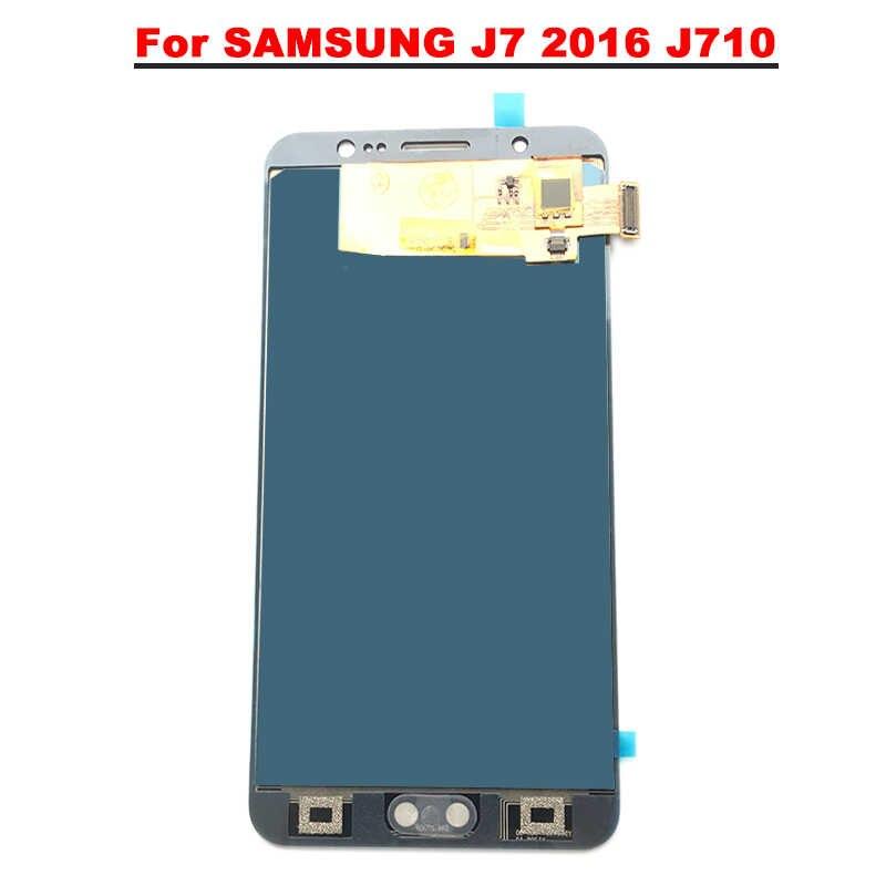 5.5 ''จอแอลซีดีสำหรับ SAMSUNG GALAXY J7 2016 จอแอลซีดี J710 J710F จอแอลซีดีจอสัมผัสหน้าจอสัมผัส (ไม่สามารถปรับความสว่าง)