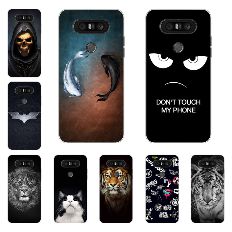 LG Q8 case,silicon Gossip fish Painting Soft TPU Back Cover for LG Q8 protect Phone shell