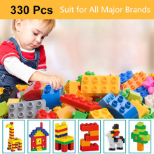 Wonderplay Mini Building Blocks 330PCS Bricks Kit DIY Creative Bricks Bulk Educational Kid Toys Compatible with All Major Brands все цены