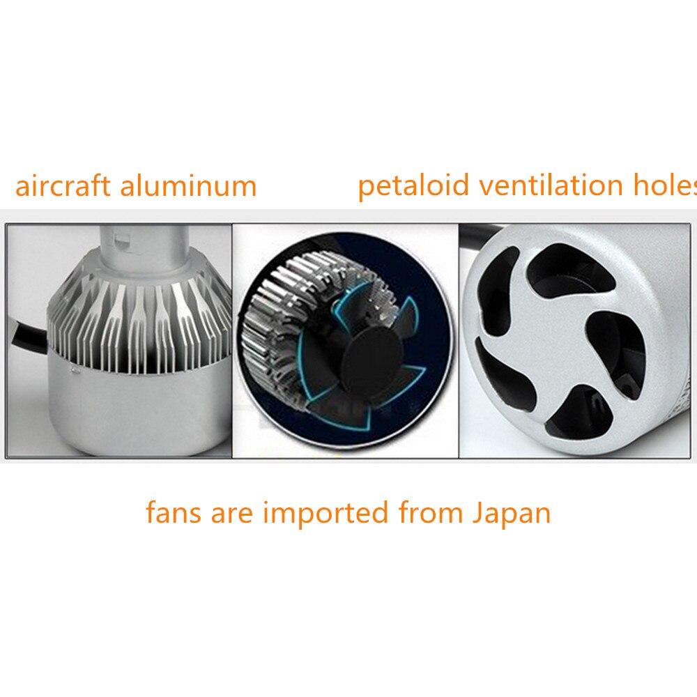 LED Avtomobil fənərləri 8000K 36W 12V H11 Avtomobil başlığı - Avtomobil işıqları - Fotoqrafiya 4