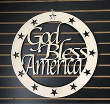 Wooden monogram- 4th of july- Patriotic- God Bless- & Buy hanging monogram and get free shipping on AliExpress.com