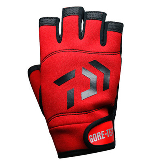 Special Price Free shipping High-qualityoutdoor breathable fishing gloves Half fingers cut water-proof sports gloves