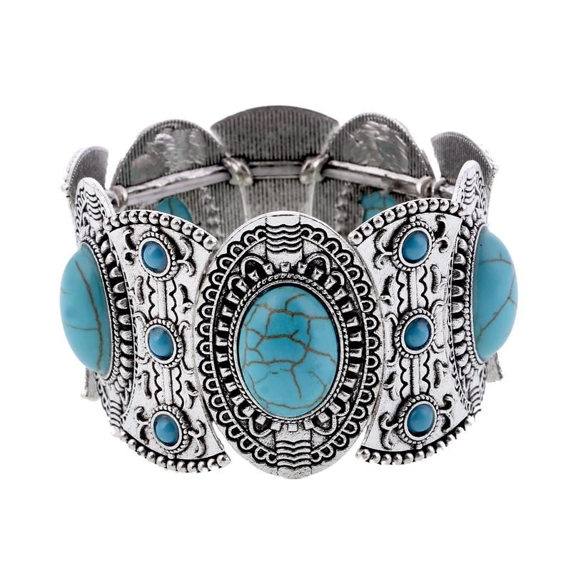 LOVBEAFAS Boho Elastic Bracelets Bangles For Women Ethnic