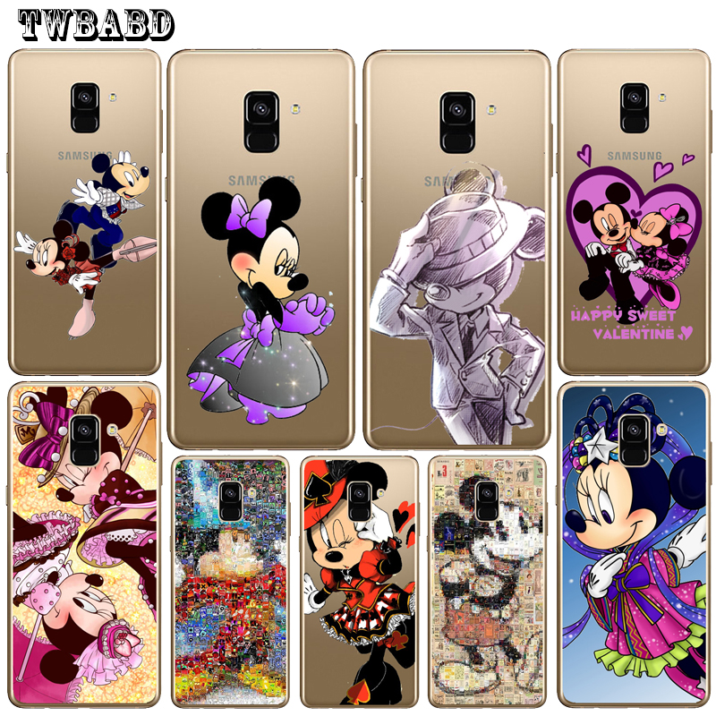 Cute Minnie Mouse Cool Mickey Phone Case For Cover Samsung S9 S8Plus A3 A5 A7 2016 J3 J5 J7 2017 S7 S7Edge A8 Plus 2018 Shell