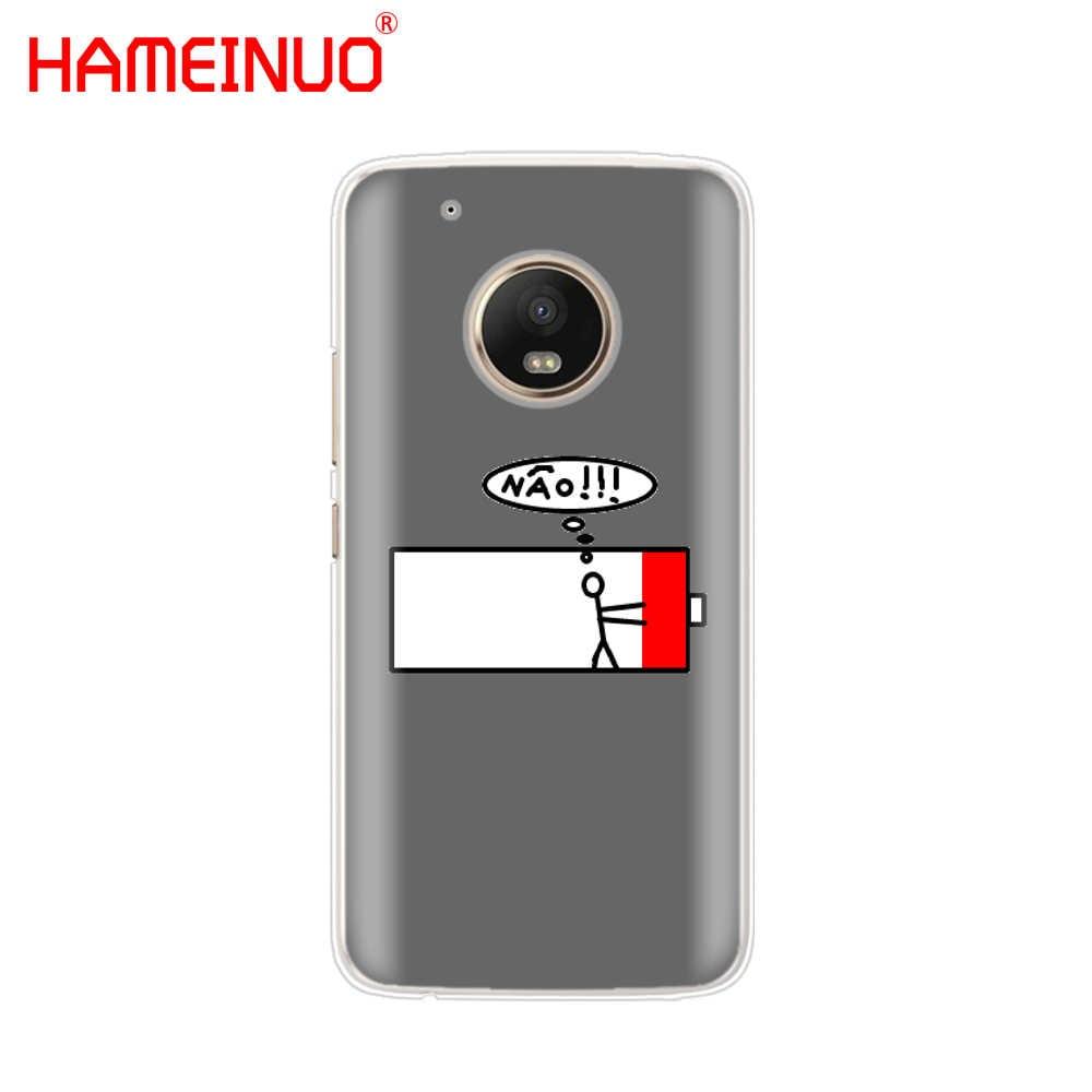 Hameinuo 배터리 수명주기 모토로라 모토 x4 c g6 g5 g5s g4 z2 z3 play plus 용 재미있는 클리어 케이스 전화 커버