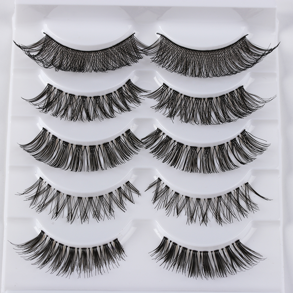 Beauty Essentials Radient Crystal 3d Mink Lashes Natural Handmade Transparent Terrier Eyelashes Eyes Lash Makeup Extension High Quanlity 1 Pairs New F23