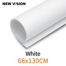 Biały 68x130 cm 27*51 cal fotografia tło papier matowy pcv winylu bezszwowe tło bez szwu wody dowód