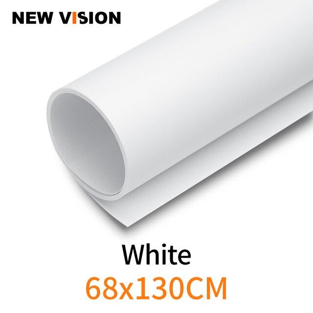 Blanc 68x130 cm 27*51 pouces photographie toile de fond papier mat PVC vinyle sans couture fond étanche à leau