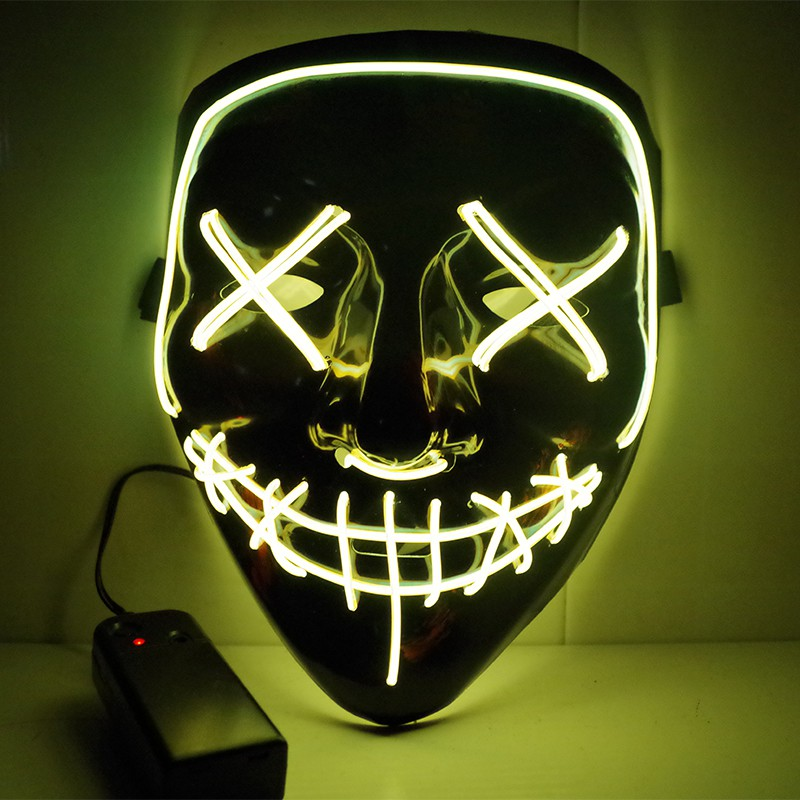 Viral Halloween Led Mask - Yellow