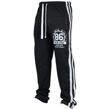 1a949dce298 CALOFE 2018 Men Letter Print Joggers Casual Pants Hip Hop Men Sportswear  Classic Striped Sweatpants Trousers Jogger Track Pants