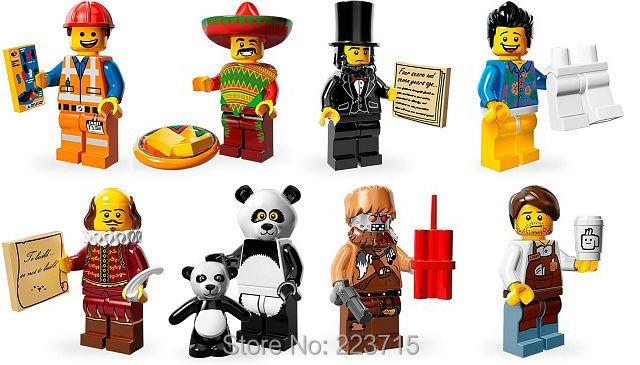 * Serie de películas de emmet minifigs set * enlighten diy ladrillos bloque, compatible con lego marca